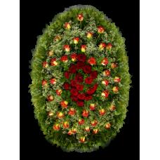 Венок из живых цветов ВЖ-68