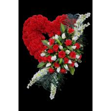 Венок из искусственных цветов в виде сердца ВСИ-12