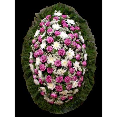 Венок из живых цветов ВЖ-78