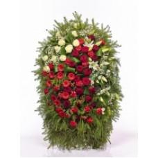 Венок из живых цветов ВЖ-104