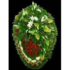 Венок из живых цветов ВЖ-80