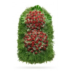 Венок из живых цветов ВЖ-85