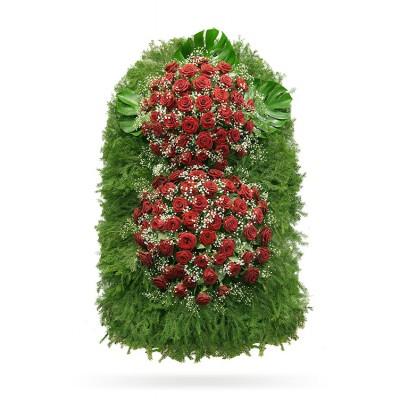 Венок из живых цветов с доставкой