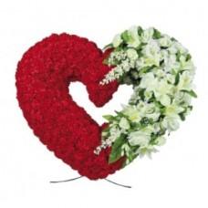 Венок из искусственных цветов в виде сердца ВСИ-09