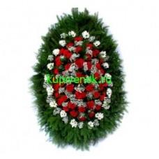 Ритуальный Венок из живых цветов ВЖ-37
