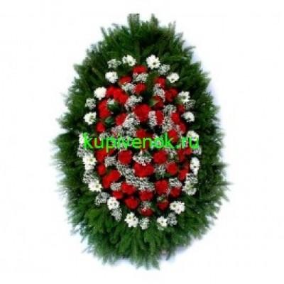 Венок из живых цветов ВЖ-133