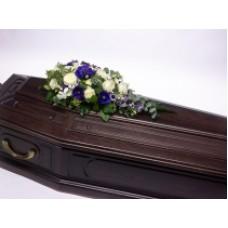 Кремационная композиция из живых цветов КР-002