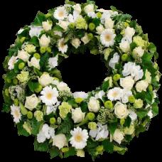 Венок европейский из живых цветов ВЕЖ-20