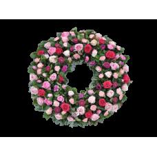 Венок европейский из живых цветов ВЕЖ-53