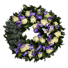 Венок европейский из живых цветов ВЕЖ-49