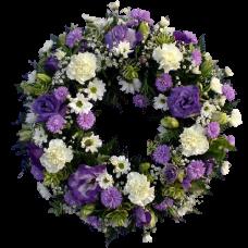 Венок европейский из живых цветов ВЕЖ-21