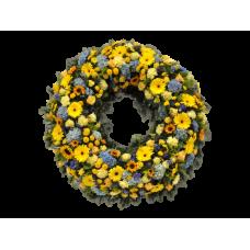 Венок европейский из живых цветов ВЕЖ-50