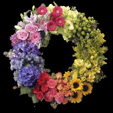 Венок европейский из живых цветов ВЕЖ-08