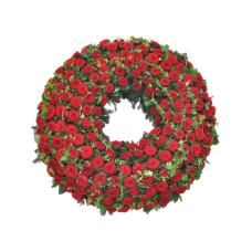 Венок европейский из живых цветов ВЕЖ-51