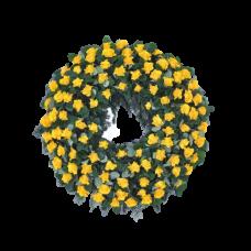 Венок европейский из живых цветов ВЕЖ-52