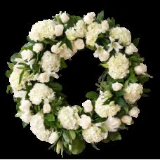 Венок европейский из живых цветов ВЕЖ-05
