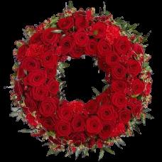 Венок европейский из живых цветов ВЕЖ-48