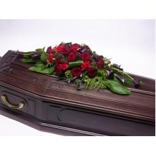 Кремационная композиция из живых цветов КР-001