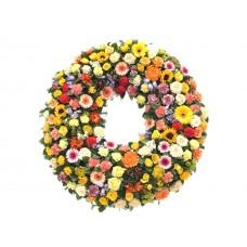 Венок европейский из живых цветов ВЕЖ-34