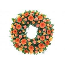 Венок европейский из живых цветов ВЕЖ-35