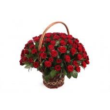 Корзина из живых цветов КЖ-65