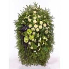 Венок из живых цветов ВЖ-110
