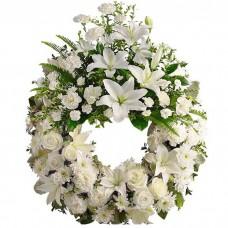Венок европейский из живых цветов ВЕЖ-37