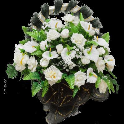 Корзинка из искусственных цветов КО-005