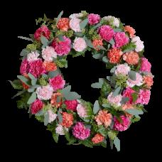 Венок европейский из живых цветов ВЕЖ-59