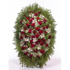 Венок из живых цветов ВЖ-113
