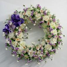 Венок европейский из искусственных цветов ВЕИ-03