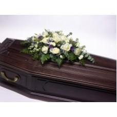 Кремационная композиция из живых цветов КР-018