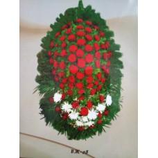 Ритуальный Венок из живых цветов ВЖ-08