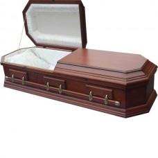 """Гроб двухкрышечный деревянный """"Американец восьмигранник"""""""