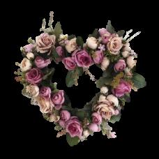 Венок из искусственных цветов в виде сердца ВСИ-06