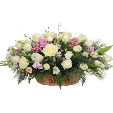 Корзина из живых цветов КЖ-72