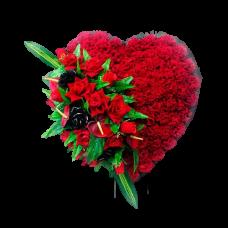 Венок из искусственных цветов в виде сердца ВСИ-14