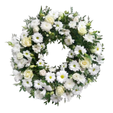 Венок европейский из живых цветов ВЕЖ-57