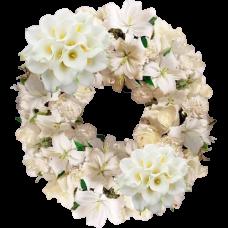 Венок европейский из живых цветов ВЕЖ-56