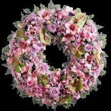 Венок европейский из живых цветов ВЕЖ-55
