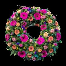 Венок европейский из живых цветов ВЕЖ-02