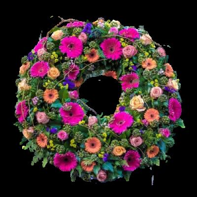 Европейский венок из живых цветов ВЕЖ-02