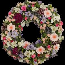 Венок европейский из живых цветов ВЕЖ-58
