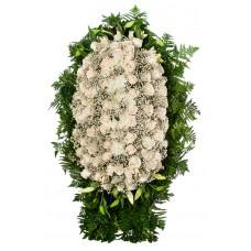 Венок из живых цветов ВЖ-114