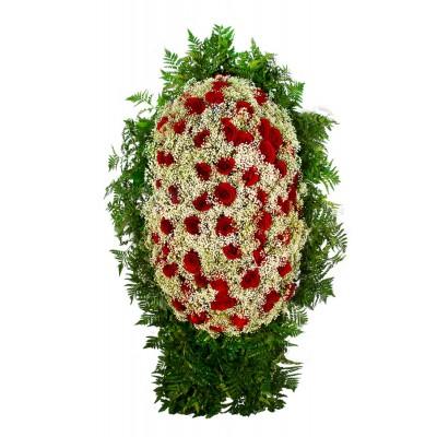 Венок из живых цветов ВЖ-115