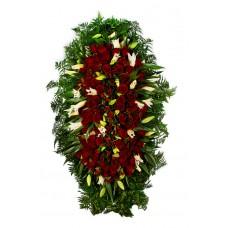 Венок из живых цветов ВЖ-116