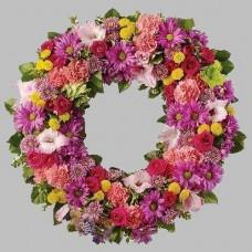 Венок европейский из живых цветов ВЕЖ-10