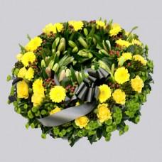 Венок европейский из живых цветов ВЕЖ-17
