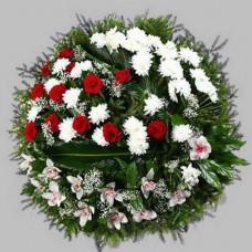 Венок европейский из живых цветов ВЕЖ-22