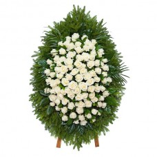 Ритуальный Венок из живых цветов ВЖ-50
